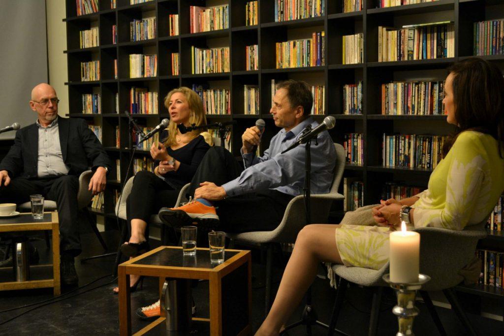 Video fra intervju-aften 2 november med Audun Myskja, Kristin Flood og Terje Toftenes